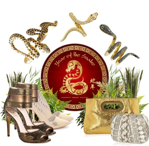 Celebrate The Year of The Snake with Jewelry, Shoes, and Accessories