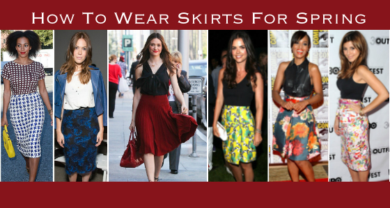 How To Wear Skirts for Spring