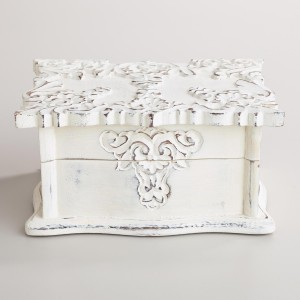 Jewelry Box - Whitewashed Scalloped Simona Jewelry Box