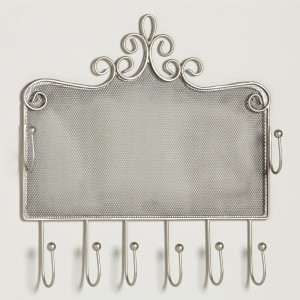 Jewelry Holder - Pewter Wall Jewelry Holder
