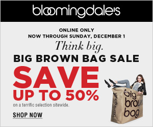 Bloomingdale's Big Brown Bag Sale