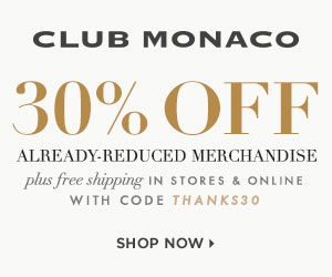 Club Monaco Black Friday 2013