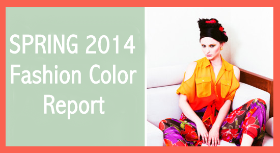 Spring 2014 Fashion Color Report