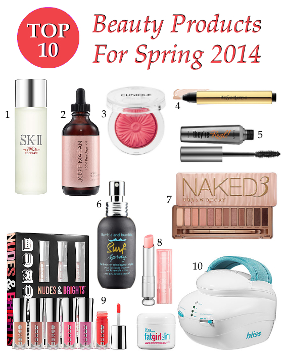 Top 10 Beauty Products For Spring 2014
