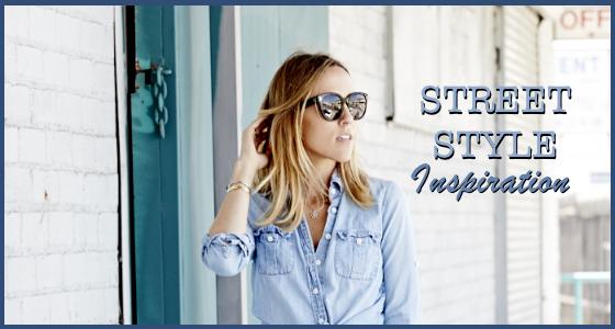 Street Style Inspiration – Light Denim