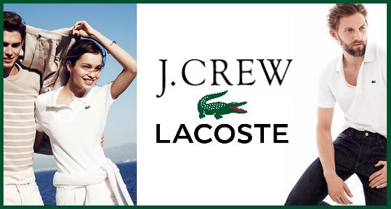 J.Crew x Lacoste Fashion Collaboration