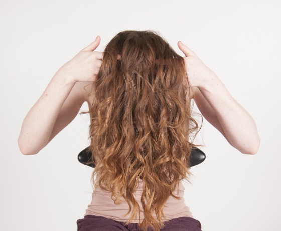 Step 5 finish the effortless look by misting the hair with chi shine