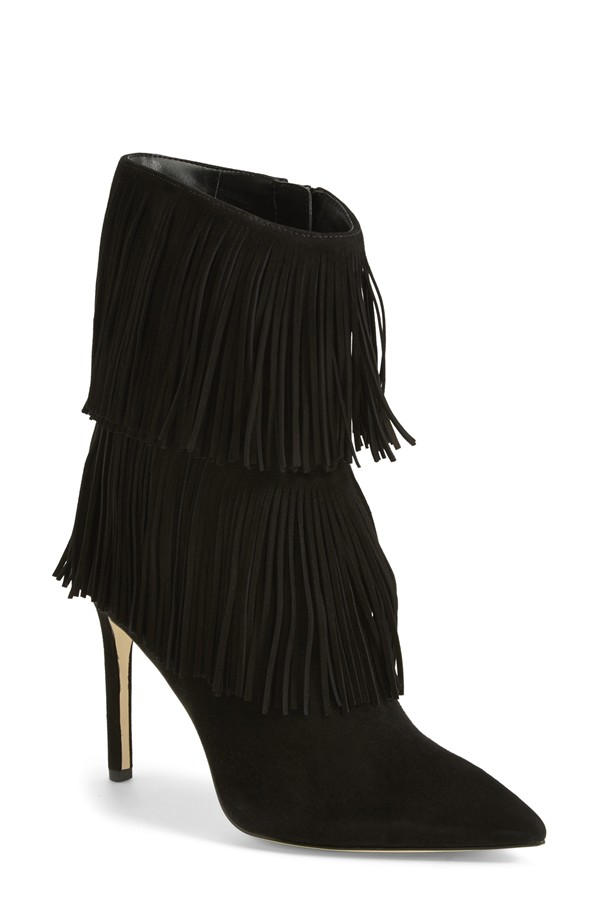 70s Style Trend - Fringed Suede Boot