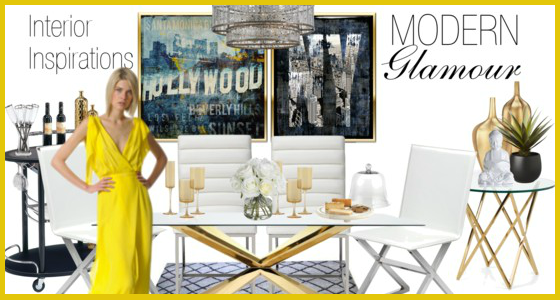 Interior Inspirations Modern Glamour Dining Room