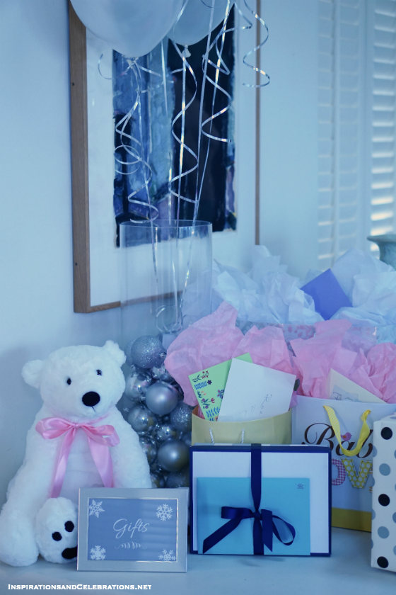 Baby Shower Gift Display Ideas : Elegant entertaining guide winter baby shower ideas