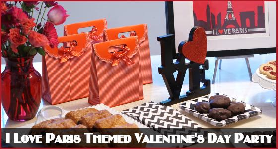 Trés Chic Entertaining Guide - I Love Paris Themed Valentine's Day Party