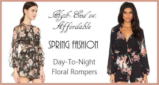 High-End vs Affordable Spring Fashion Day-to-Night Floral Rompers