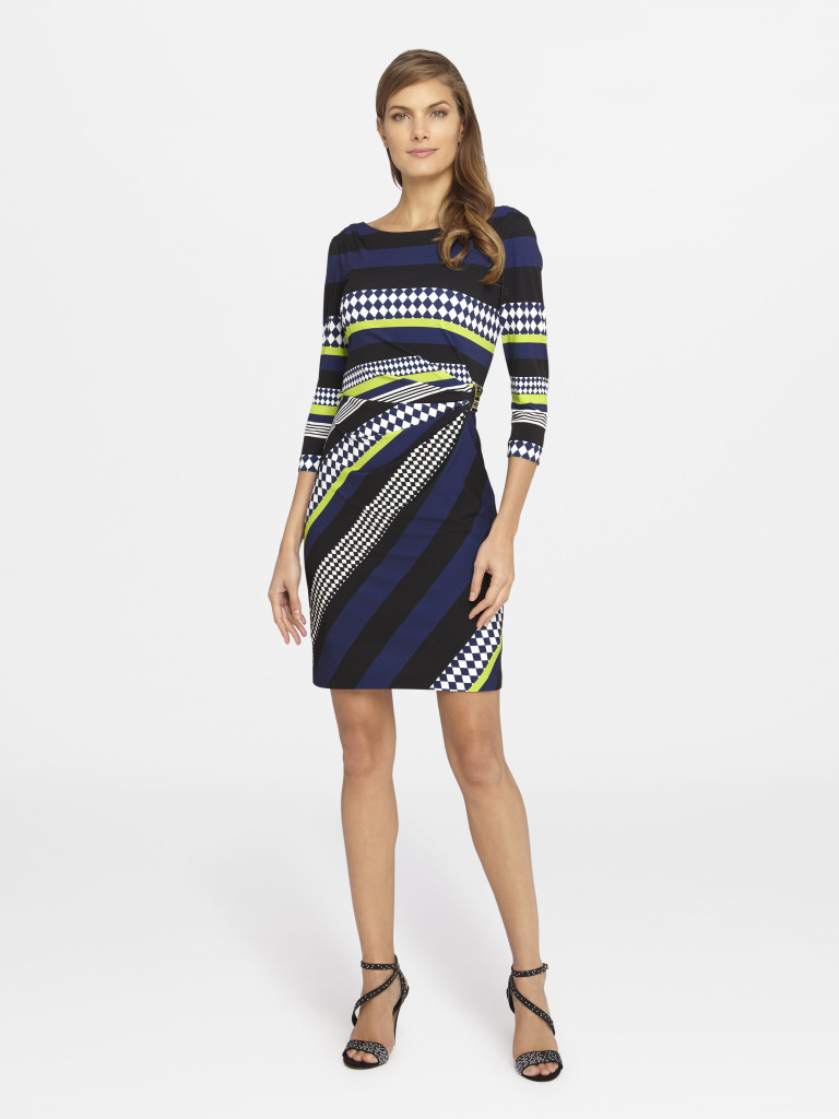 Summer Style Guide - Tahari ASL Graphic Print Matte Jersey Sheath