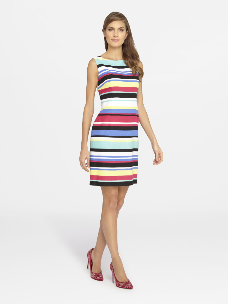 Summer Style Guide - Tahari ASL Striped Linen and Rayon Sheath