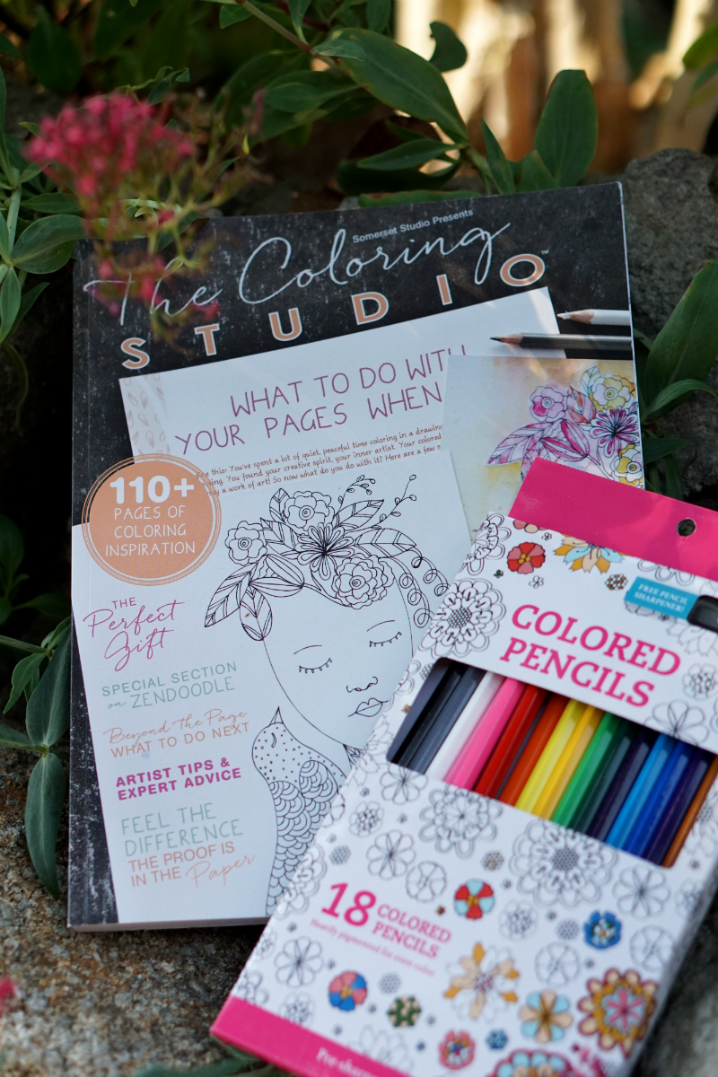 Live What You Love Summer Giveaway - The Coloring Studio Coloring Book and Pencils