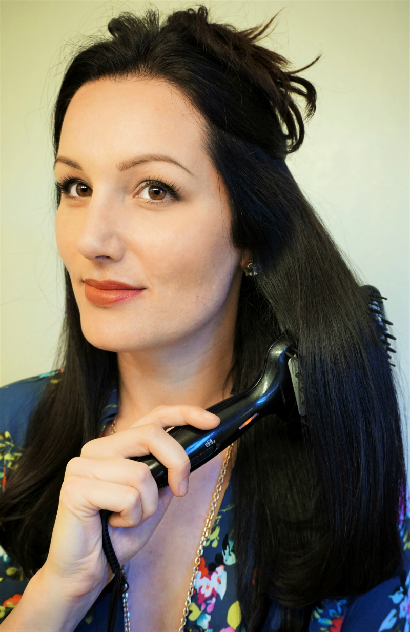 Work-To-Weekend Hairstyle Tutorial: Get a Sleek Office Look with Conair Diamond Infused Ceramic Smoothing Hot Brush