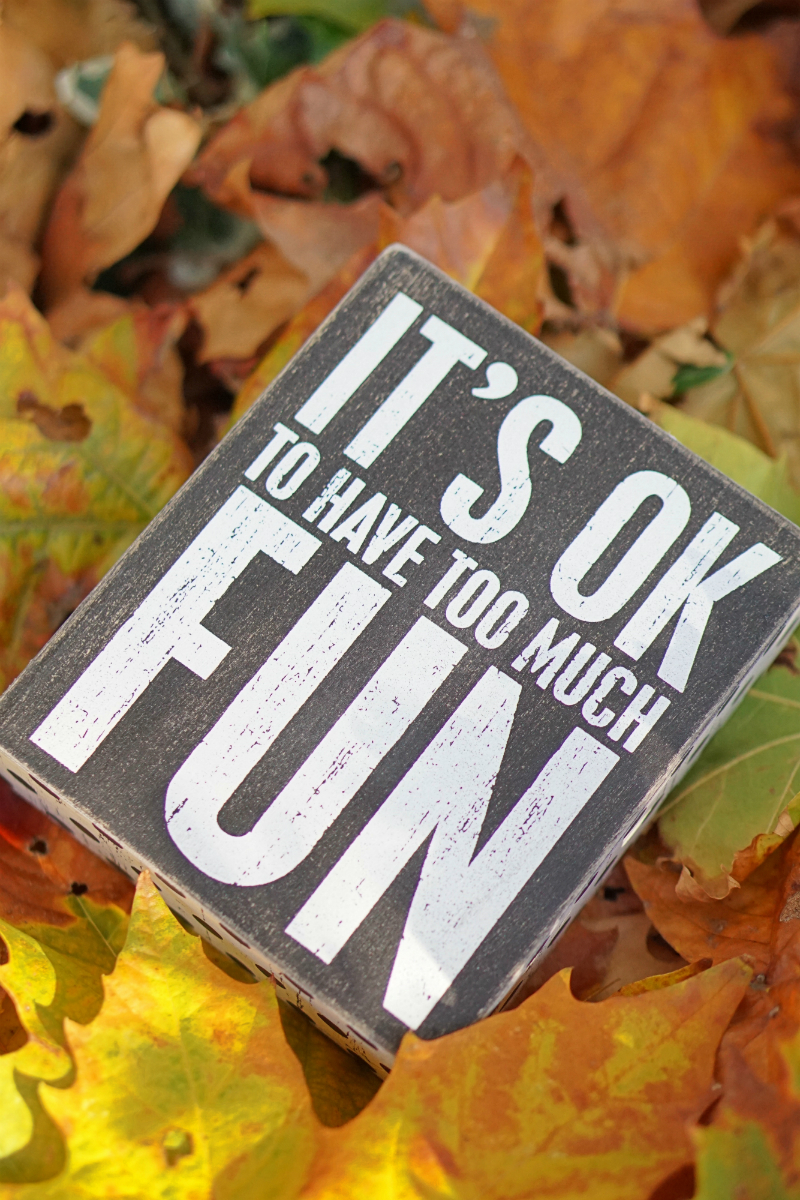 The Fun & Fashionable Fall Giveaway - Fun Wood Sign