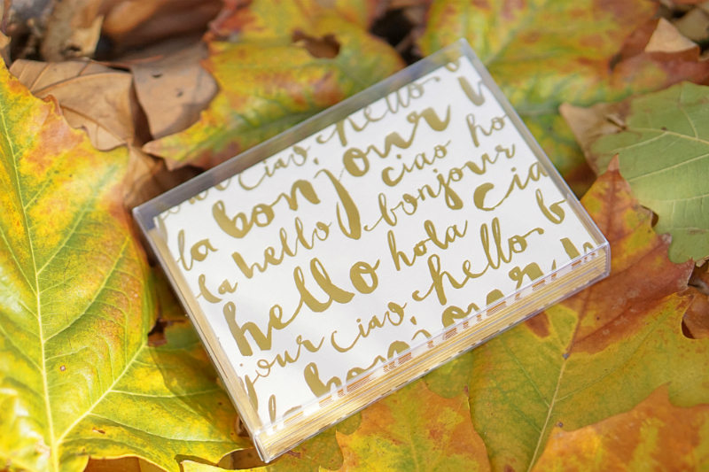The Fun & Fashionable Fall Giveaway - Papyrus Bonjour Boxed Notecard Set