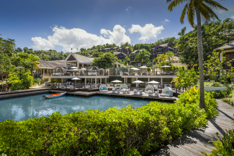 35 Romantic Getaways for Valentine's Day Weekend - Capella Marigot Bay Resort and Marina