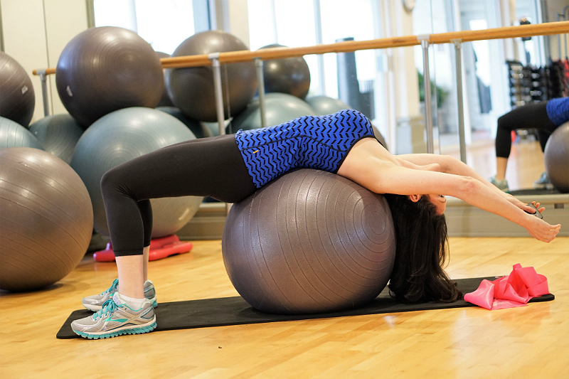 Easy and Effective Ways To Help Relieve Lower Back Pain - Stability Ball Backbend