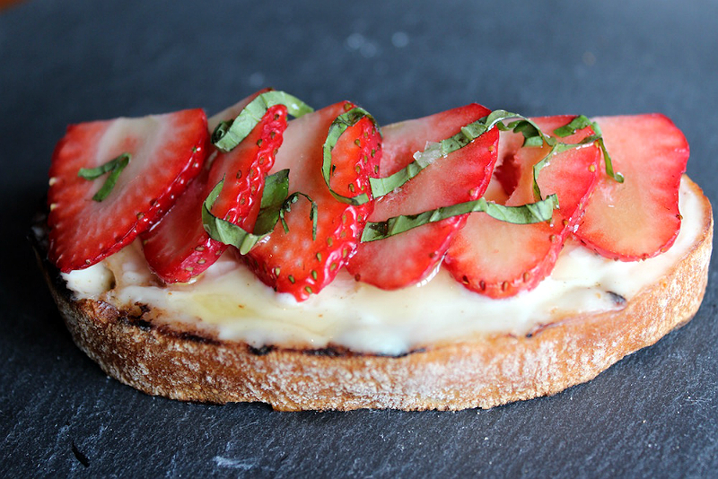 Gourmet Easter Brunch Recipes - Strawberry Mascarpone Bruschetta from Spuntino's Wine Bar