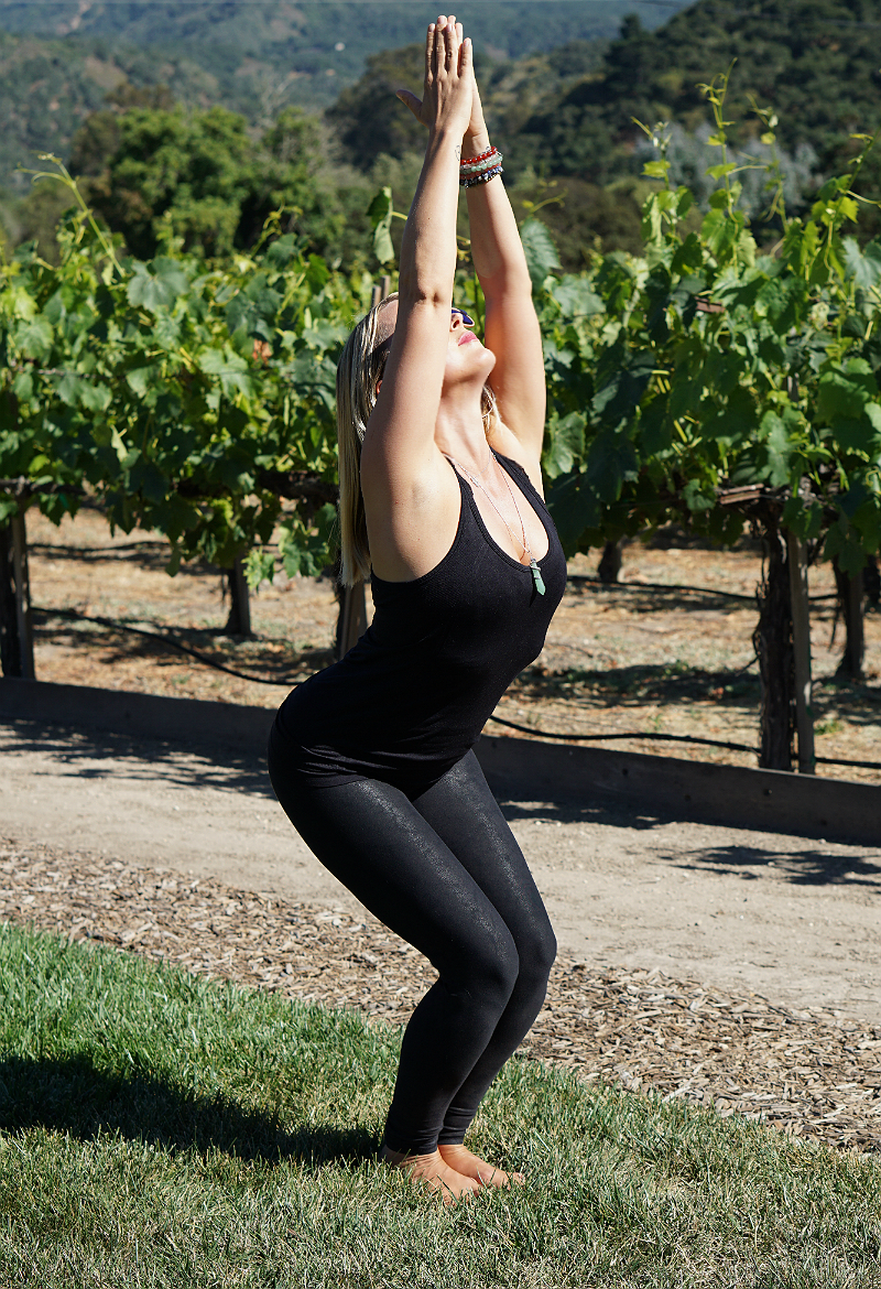 Yoga in the Vines Series - Chair Pose