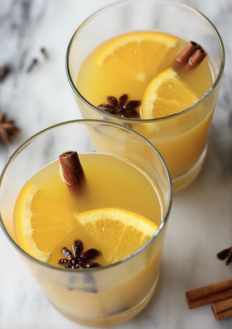 4 Fall Harvest Cocktails and Lattes - Orange Cinnamon Blossom Wine