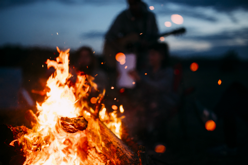 Inspired By The Season - Fun Ways To Enjoy The Best Things About Fall - Beach Bonfire