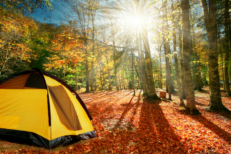 Inspired By The Season - Fun Ways To Enjoy The Best Things About Fall - Camping