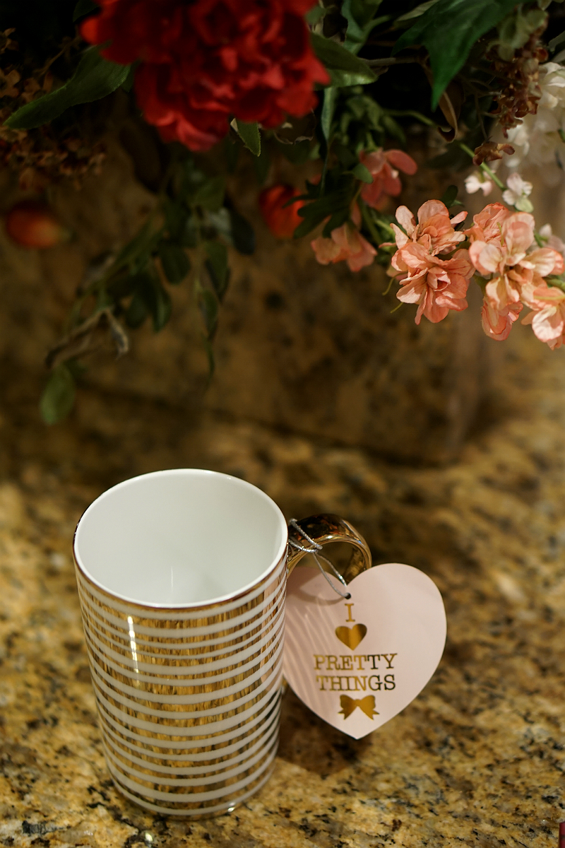 The Year of Cozy Giveaway from Inspirations and Celebrations - Gold Coffee Mug