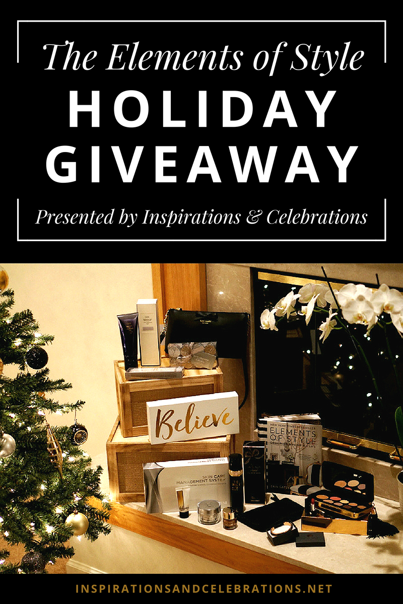 The Elements of Style Holiday Giveaway by Inspirations and Celebrations