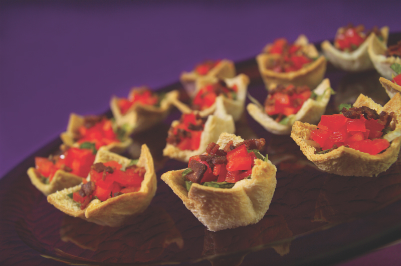 Game Day Party Recipes - Classic BLT Cups