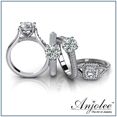 Custom Bridal Rings, Diamond Wedding Rings, Engagement Rings by Anjolee
