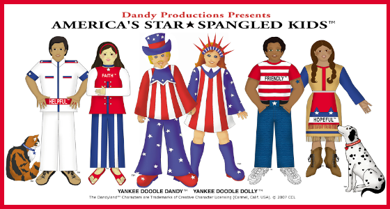 Yankee Doodle Dandy and Dandyland Characters