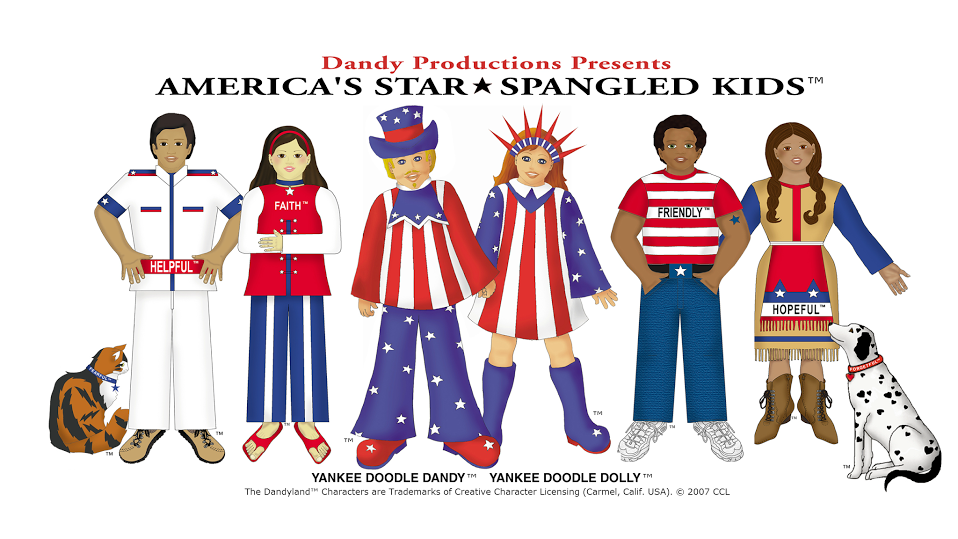 Yankee Doodle Dandy and the Dandyland Characters