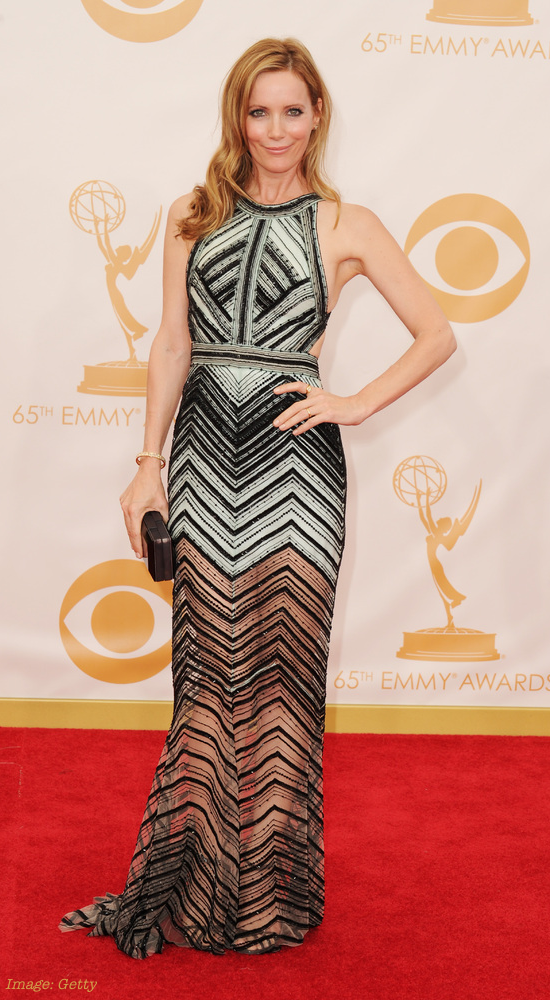 2013 Emmy Awards Best Celebrity Fashion - Leslie Mann