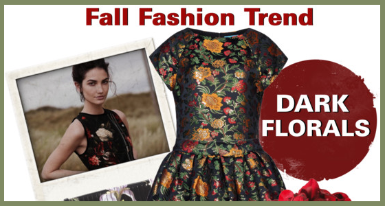 Dark Floral Fall Fashion Trend