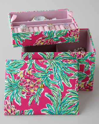 Jewelry Box - Lilly Pulitzer Pink Spike The Punch Jewelry Box