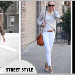 Street Style Inspiration - White Jeans For Fall