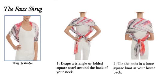 How To Tie A Scarf - The Faux Shrug