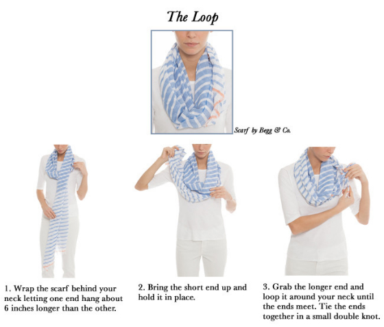 How To Tie A Scarf - The Loop