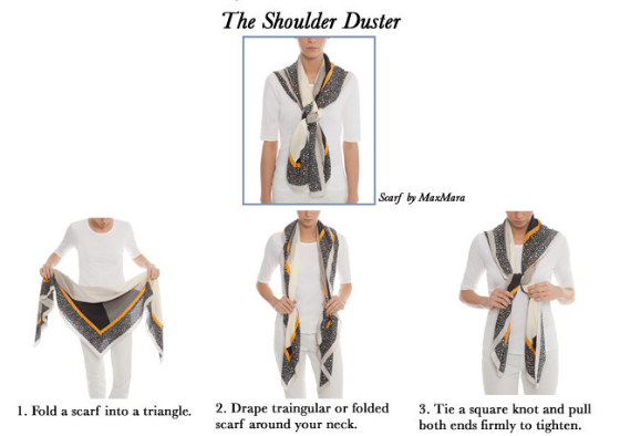 How To Tie A Scarf - The Shoulder Duster