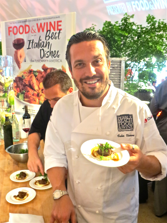 Pebble Beach Food and Wine Fesival Celebrity Chef Fabio Viviani