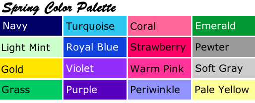 spring color palette inspirations and celebrations