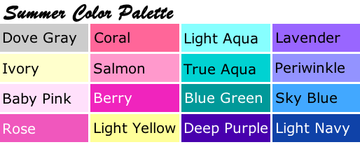 Summer Color Palette - Best Colors For Blondes