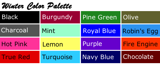 Winter Color Palette - Best Colors For Brunettes