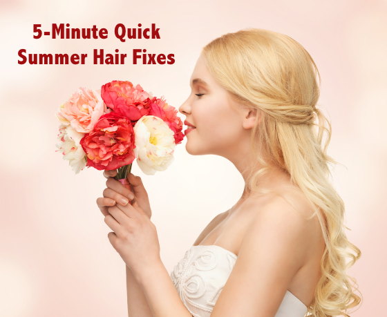 5-Minute Quick Summer Hair Fixes