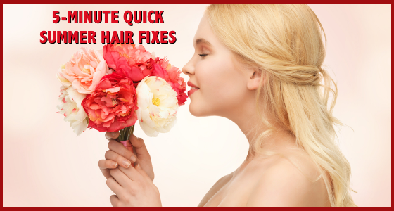 5 Minute Quick Summer Hair Fixes