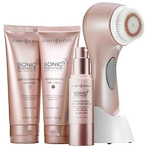 At-Home Beauty Devices - Clarisonic Sonic Radiance Brightening Solution Kit
