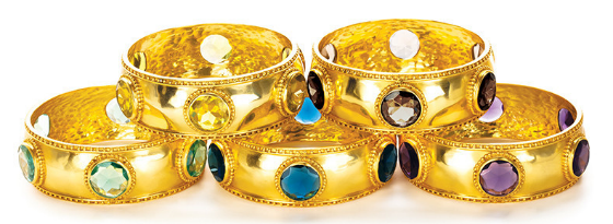 Julie Vos Fall 2014 Collection Baroque Rings